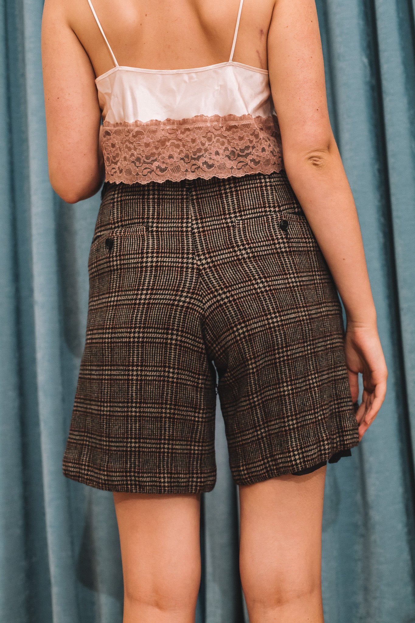 Burmese plaid shorts
