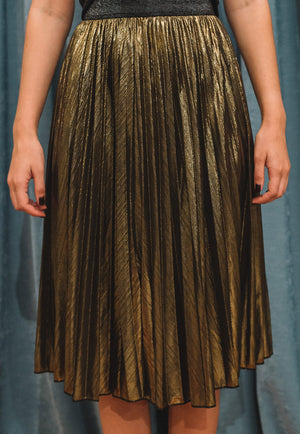 Malena metallic skirt
