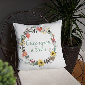 Once Upon A Time Square Pillow