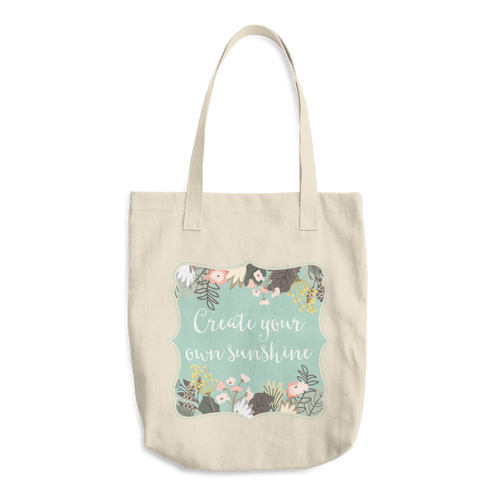 Create Your Own Sunshine Cotton Tote Bag