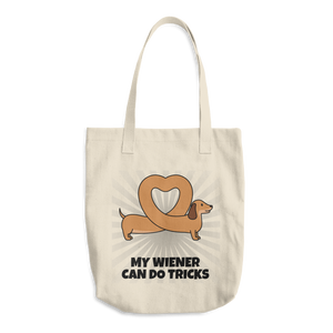 Dog Lover - My Wiener Can Do Tricks Cotton Tote Bag