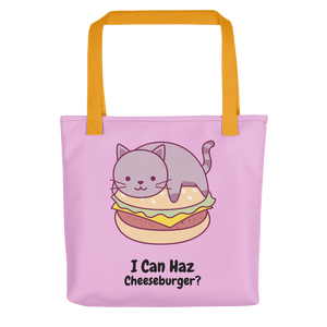 Cat Lover - I Can Haz Cheeseburger? Tote Bag