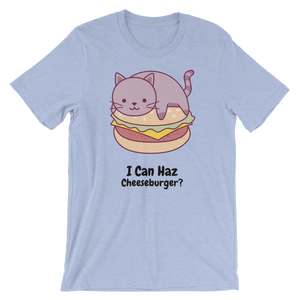 Cat Lover - I Can Haz Cheeseburger? Unisex Tshirt