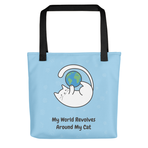 Cat Lover - My World Revolves My Cat Tote Bag