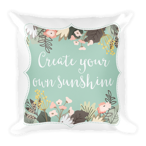 Create Your Own Sunshine Square Pillow