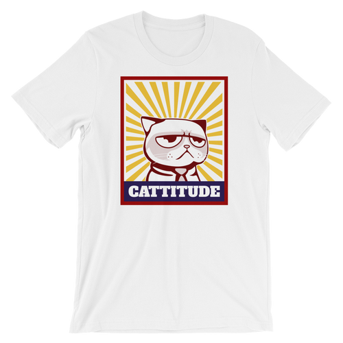Cat Lover - Cattitude Unisex Tshirt