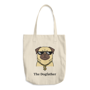 Dog Lover - The Dogfather Cotton Tote Bag
