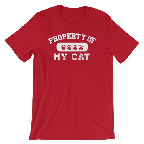 Cat Lover - Property Of My Cat Unisex Tshirt