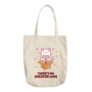 Cat Lover - There's No Greater Love Cotton Tote Bag