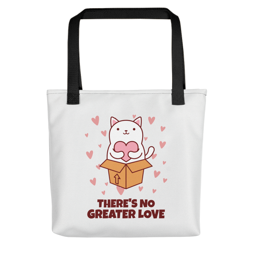 Cat Lover - There's No Greater Love Tote Bag