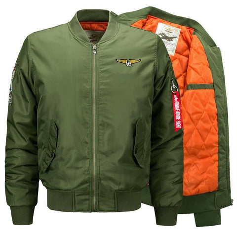 Army Green Military Bomber - ShopThreeFifty