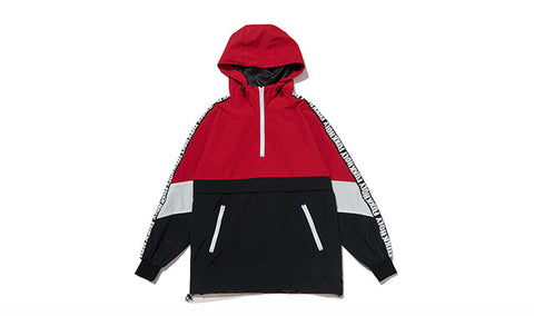 Holy Fuxk Windbreaker Half Zip Hooded Jacket - ShopThreeFifty