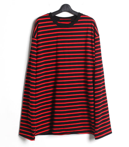 Cotton Blend Striped Long Sleeve - ShopThreeFifty