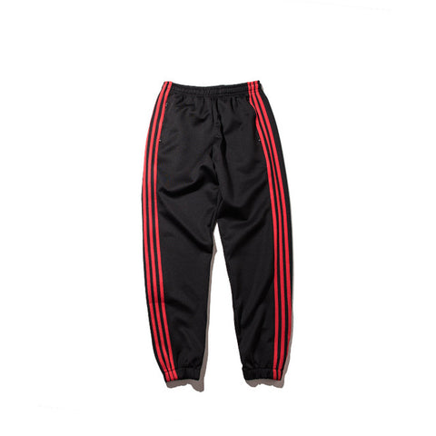 350 Striped Track Pants (Black & Red) - ShopThreeFifty
