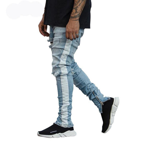 Blue Track Jeans - ShopThreeFifty