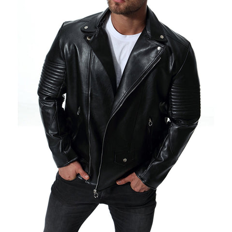 Motorcycle Leather Jacket - ShopThreeFifty