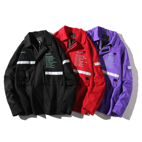 """THEORETICALLY SPEAKING"" Collard Windbreaker - ShopThreeFifty"