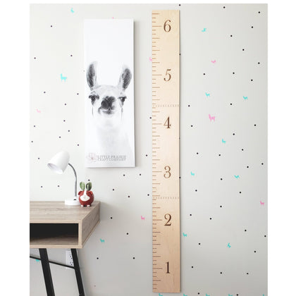 Personalized Wooden Growth Charts handmade in Edmonton, Alberta, Canada