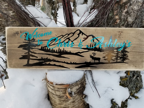 Cabin/ Outdoor Sign. Made in Canada.