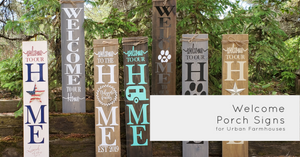 wooden porch signs, welcome signs, farmhouse decor, wooden welcome signs,