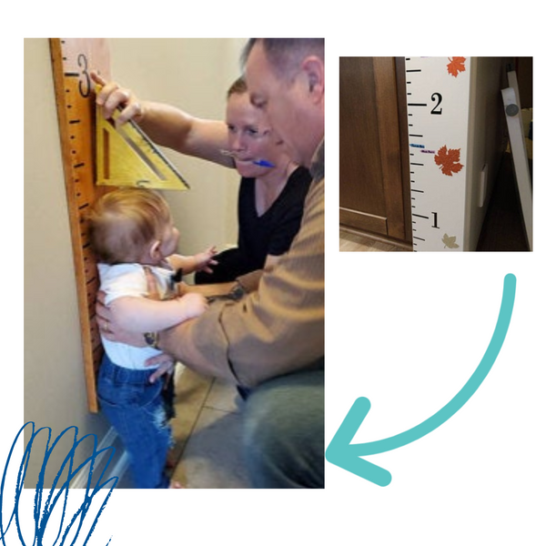 wooden growth chart height marking arrows for growth charts, growth chart rulers for boys