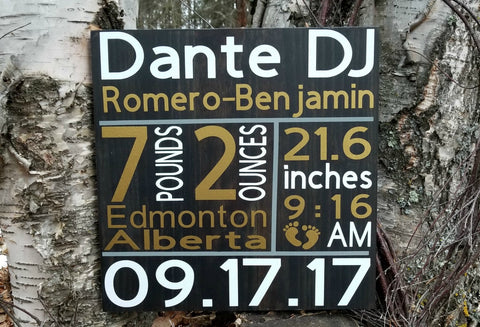 Birth Announcement Signs. Made in Canada