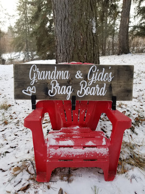 "grandparent gifts, Custom Brag Board | 24 "" Artwork & Photo Display Sign"