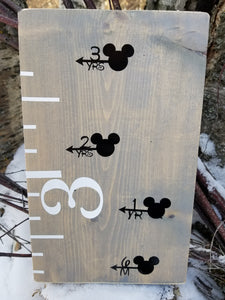 Mouse Ears Growth Chart Arrows - Little Prairie Craft Co.
