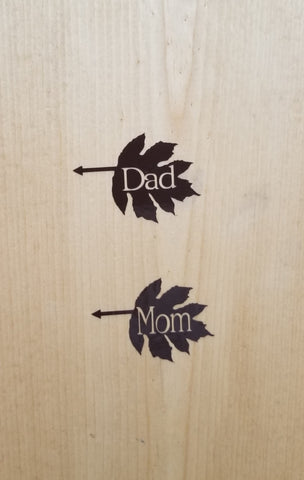 Leaf Collection - Mom and Dad Leaf Arrows (Left Pointing)