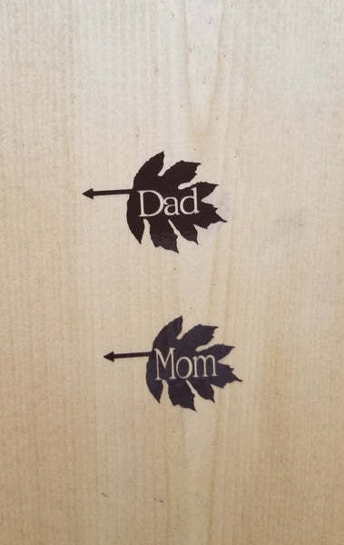 Mom or Dad Growth Chart Markers - Little Prairie Craft Co.