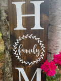 Family Laurel Home Porch Sign