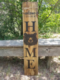 woodland animals wooden porch sign. Made in Spruce Grove, AB