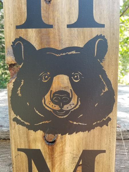 Rustic porch Sign, Camping Porch Welcome Sign, Bear Decor, Hunting Decor