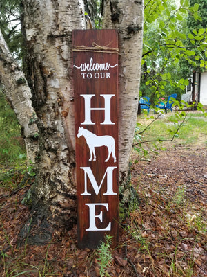 Horse Porch Sign - Little Prairie Craft Co.