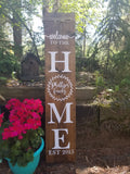 Personalized Family Laurel Porch Sign