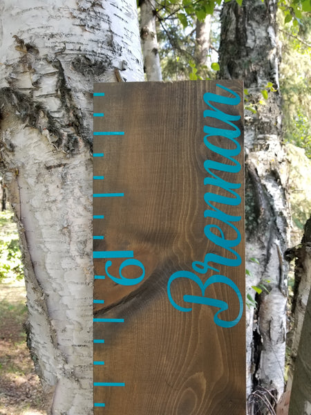 Single Name Personalized Wooden Growth Chart - Little Prairie Craft Co.