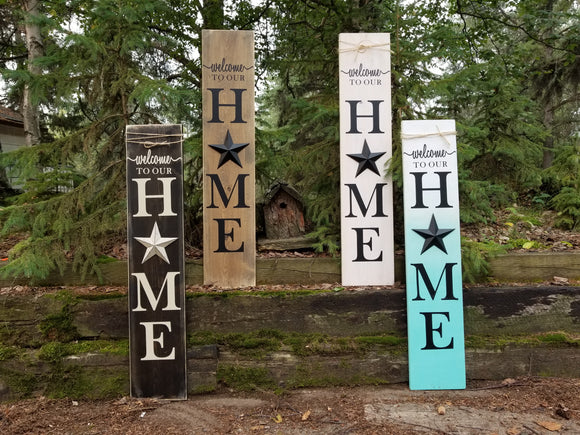 Metal Star Porch Sign