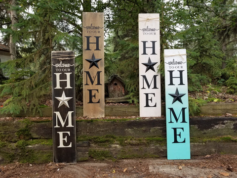 Metal Star Porch Sign - Little Prairie Craft Co.