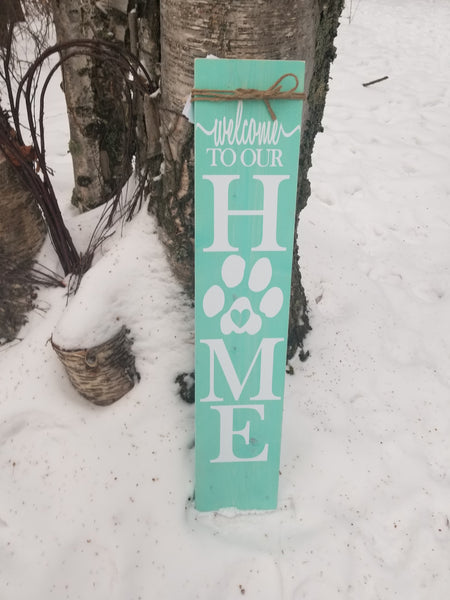 Paw Print Porch Sign - Little Prairie Craft Co.