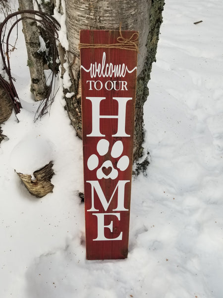 Paw Print Porch Sign