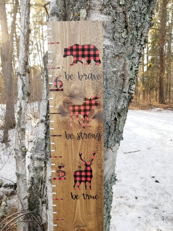 Brave, Strong & True Woodland Growth Chart