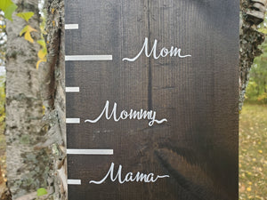 Written Words Parent Height Markers - Little Prairie Craft Co.