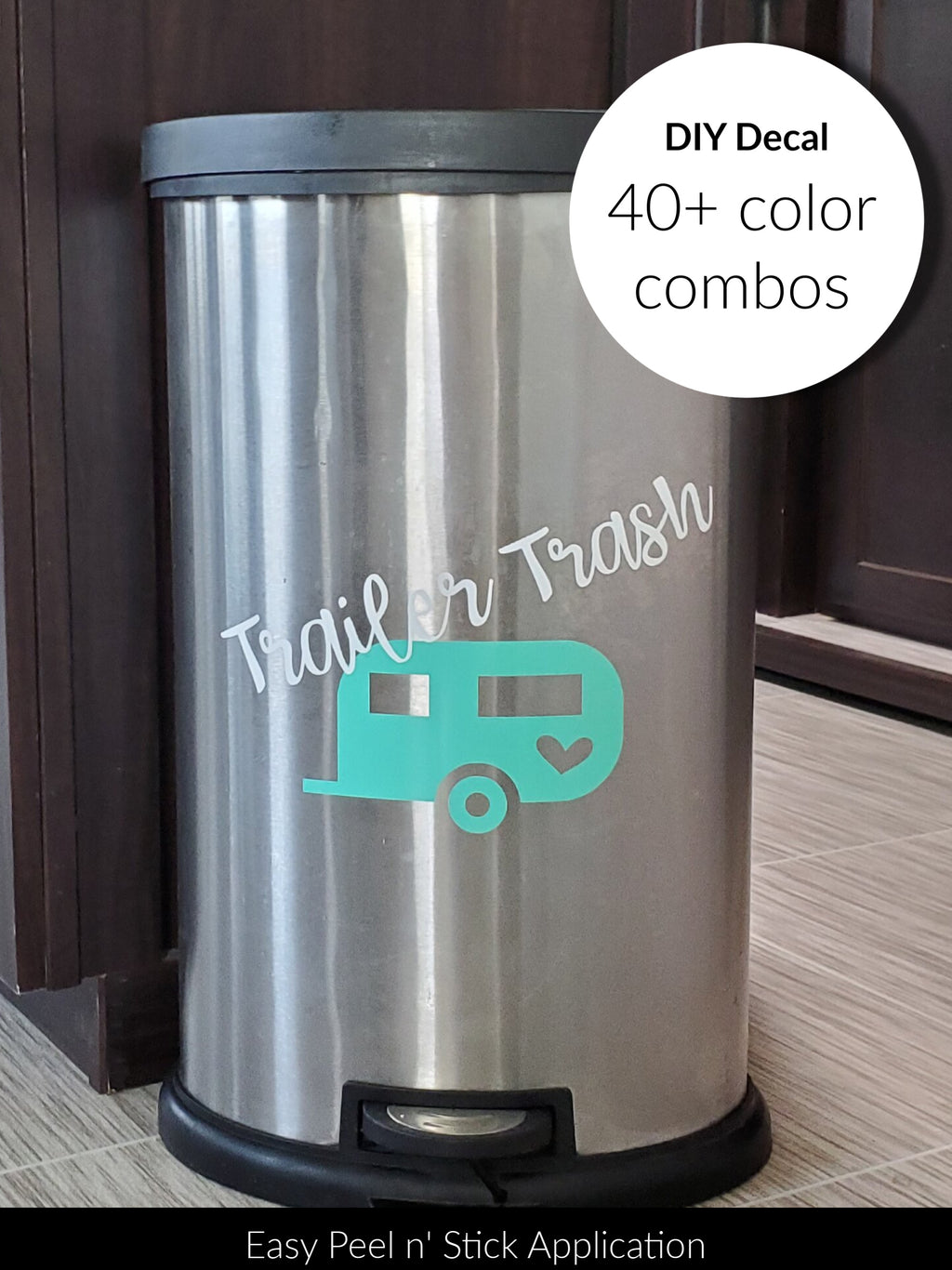 DIY Trailer Trash Decal - Little Prairie Craft Co.