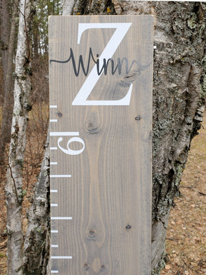 Modern Monogram Growth Chart - Little Prairie Craft Co.