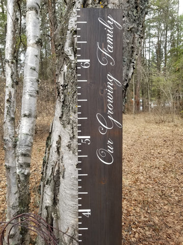 Elegant Our Growing Family Growth Chart - Little Prairie Craft Co.