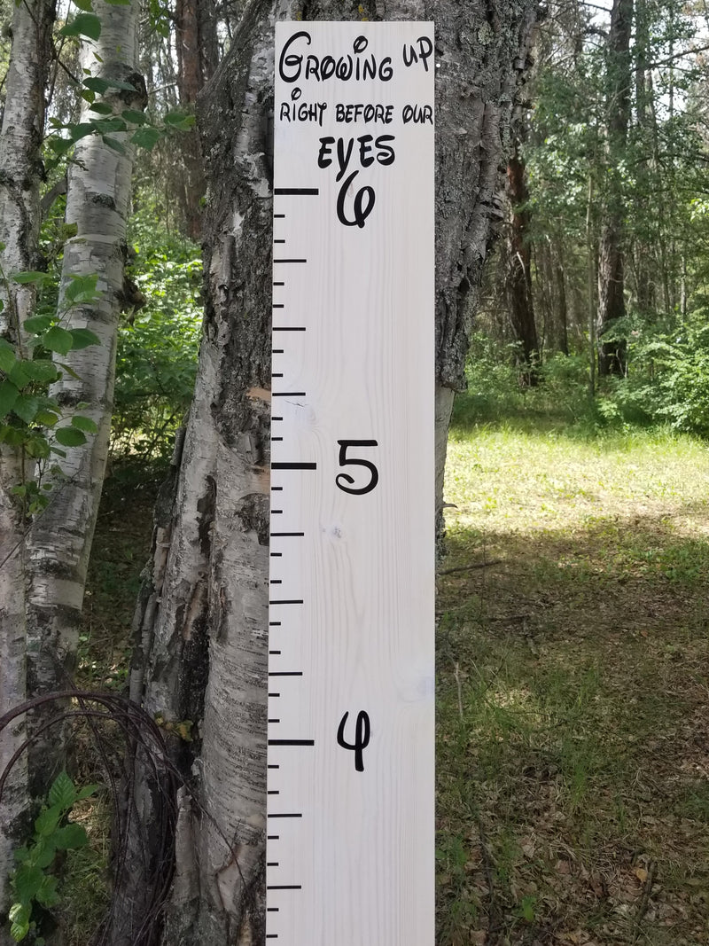 Growing Up Right Before Our Eyes (Disney Like ) Growth Chart - Little Prairie Craft Co.