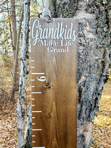 Grandkids Make Life Grand Growth Chart - Little Prairie Craft Co.