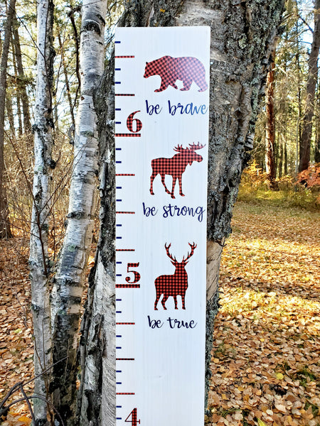 Brave, Strong & True Woodland Growth Chart - Little Prairie Craft Co.