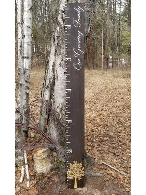 Family Tree Wooden Growth Chart - Little Prairie Craft Co.