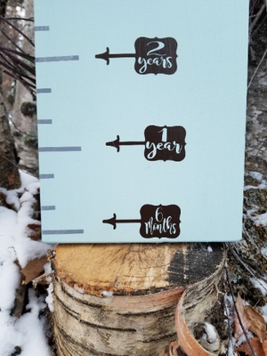 Magnolia Bubble Height Marking Arrows - Little Prairie Craft Co.
